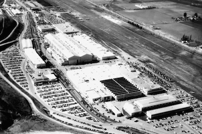 Aerial photo of Hughes Co. plant in 1952
