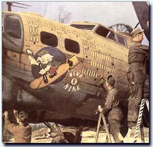 "Photo of the original B-17G ""Nine-O-Nine"""