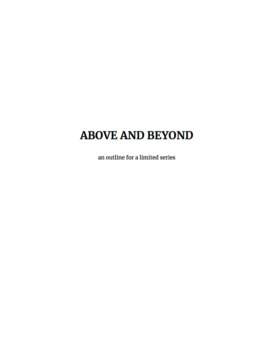 Photo of first page of miniseries breakdown