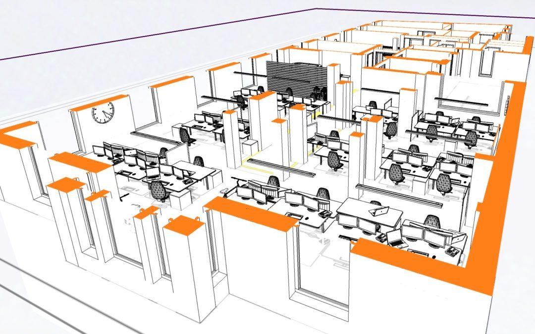 Umbau New-Work-Bürolandschaft