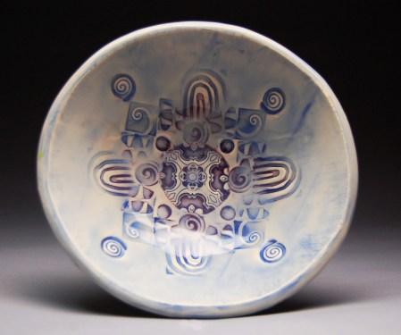 Yasenchack bowl blue and lavender