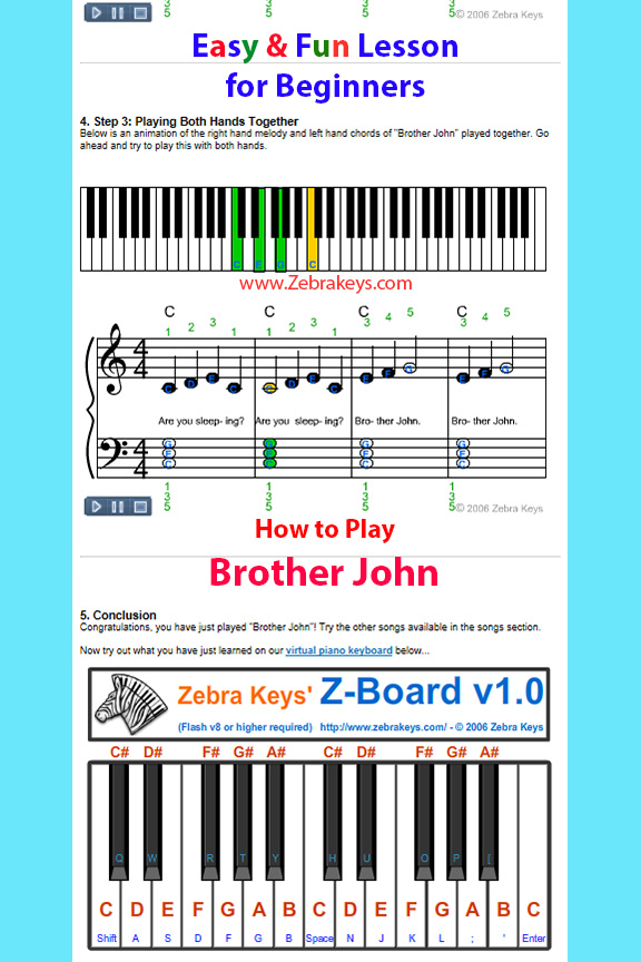 Learn How to Play Piano – This Old Man Zebra Keys Blog