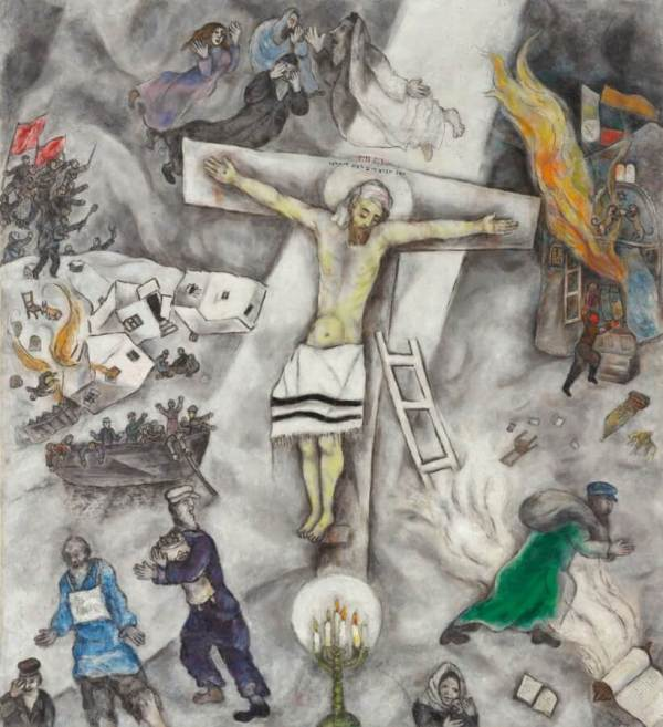 White Crucifixion by Marc Chagall
