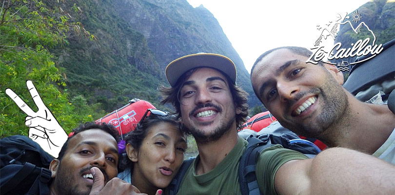 Hiking in La Reunion to go to the mafate kabar