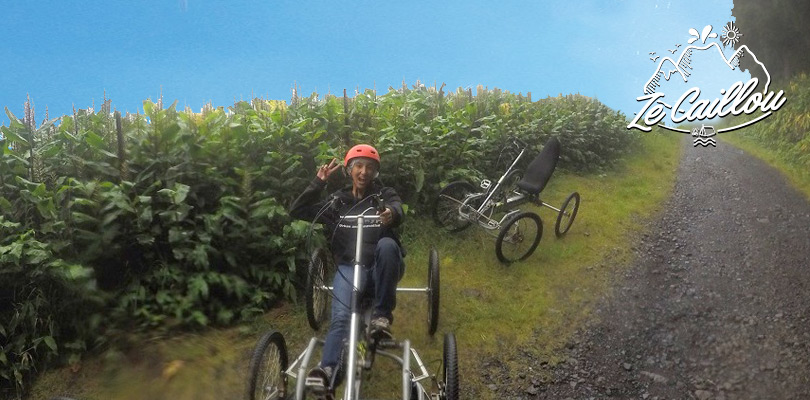 Sensational activity quadbiking in the Makes forest in Reunion Island