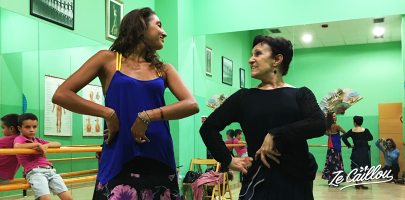 Julia, our great Flamenco teacher in Valladolid in Espagne