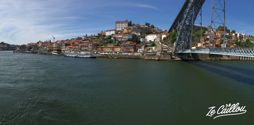 River Douro and Ponte Dom Luis I in Porto close to Ribeira district