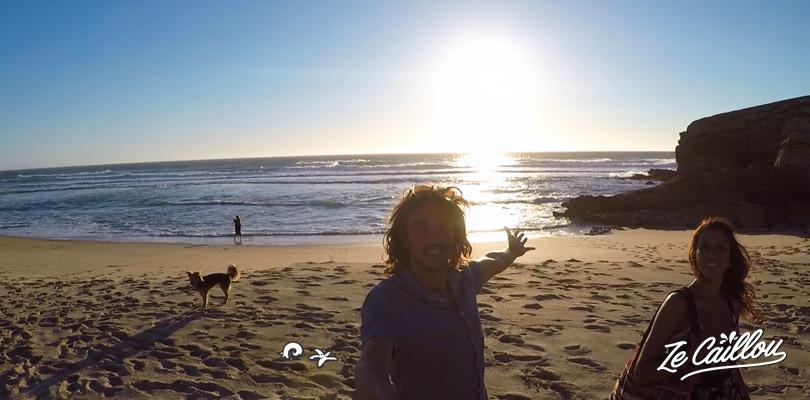 Spot de surf et pour dormir en van à Cascais vers Sintra au Portugal