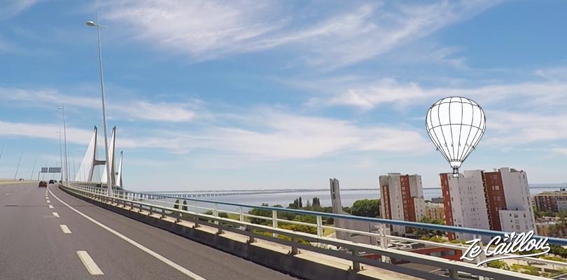 Pont Vasco de Gama à Lisbonne, le plus long d'Europe