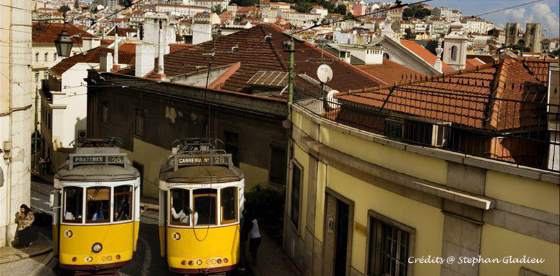 Catch the mythical tram 28 in Lisbon