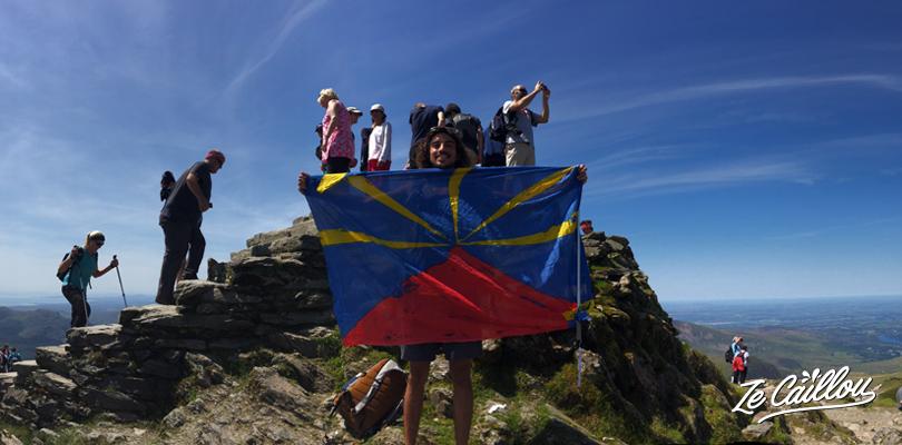 Arrivée au sommet le plus haut du Pays de Galles, le magnifique Mont Snowdon