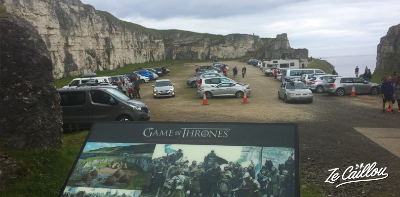 Have a taste of Game of Thrones on 1 of its filming location in Ireland in the carrick-a-rede car park