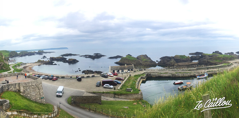 Find the Theon Greyjoy home, the Iron Islands at Ballintoy Harbour on the giant's causeway walk