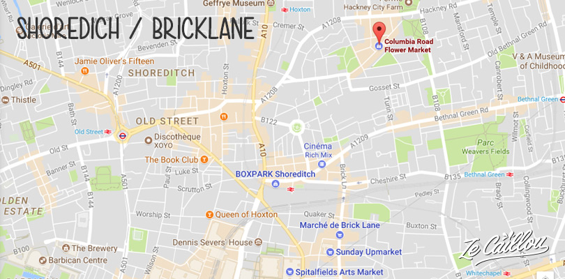 Take your time in Bricklane and Shoredich, our favorite London districts