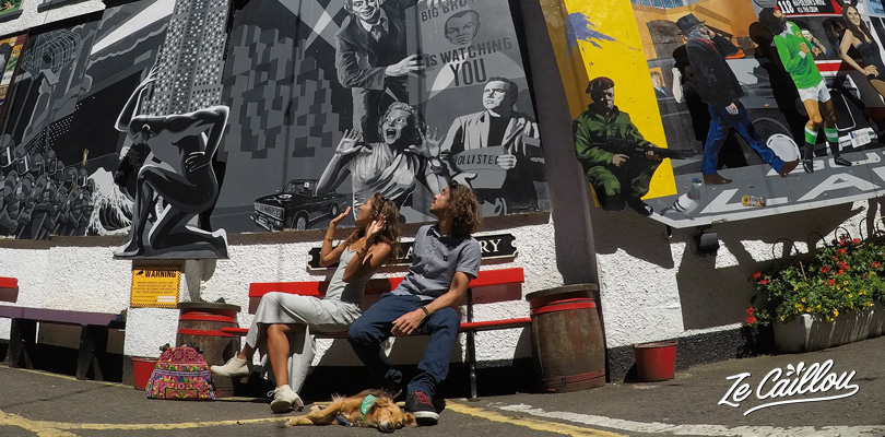 Explore the streets of Belfast and find beautiful walls artworks