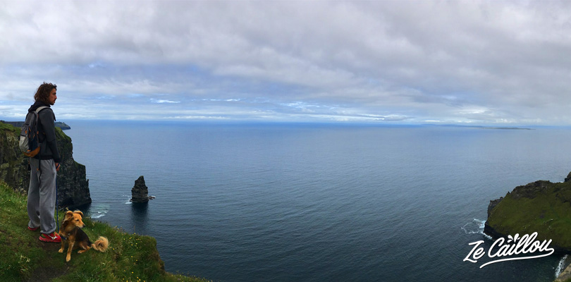 Walk along the Cliffs of Moher, highest cliffs in southern ireland