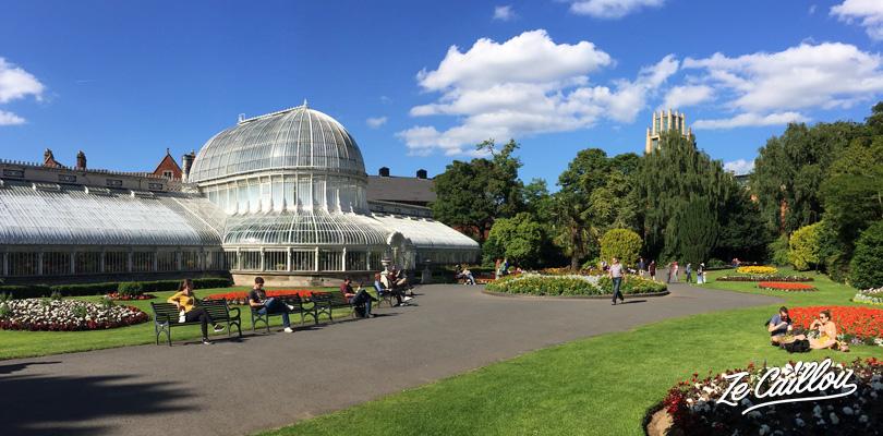 Le jardin botanique dans le Sud de Belfast, capitale de l'Irlande du Nord
