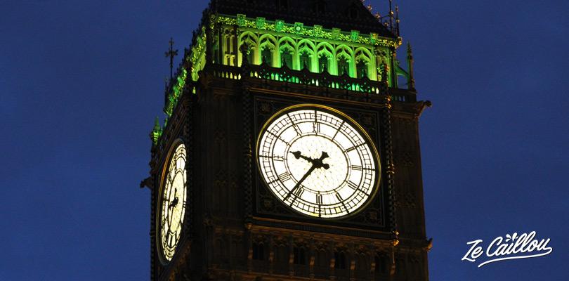 Prendre l'incontournable horloge Big Ben à Londres dans le quartier de Westminster.