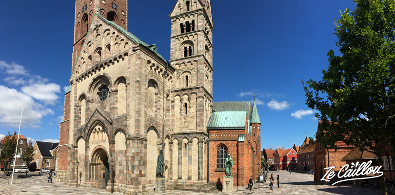 The Ribe cathedrale in the historical city center