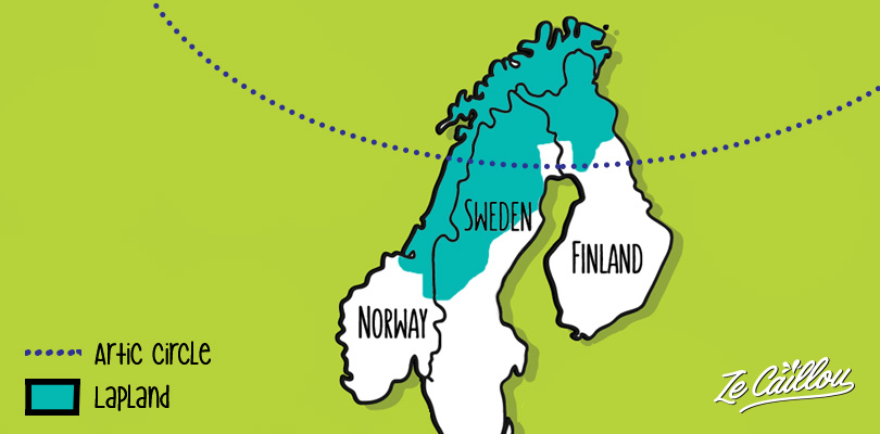 Where is the Lapland region, a map of Norway, Sweden and Finland lapland