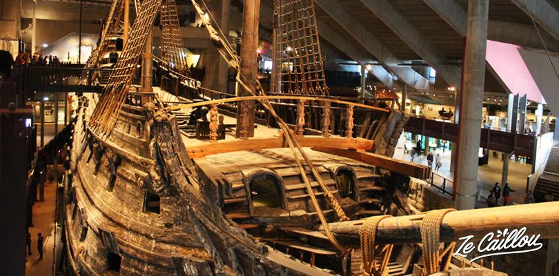 Visiter le musée de Vasa et son bateau viking sur l'île de Djurgarden à Stockholm en Suède.