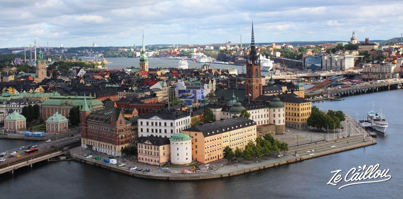 Vue de la capitale suédoise, vue depuis la tour de la mairie de Stockholm