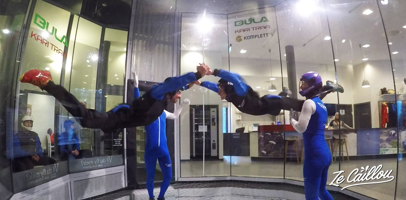Try the freefall in wind tunnel in Voss, Norway