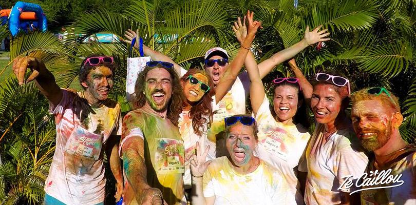 Participer à la course colorée Seigneurie Colors 2018 à la Réunion entre amis et avec la famille