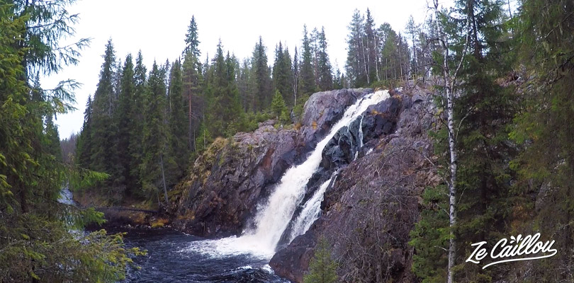 Visit the Hepokongas waterfall, the largest finnish waterfalls in Finland.