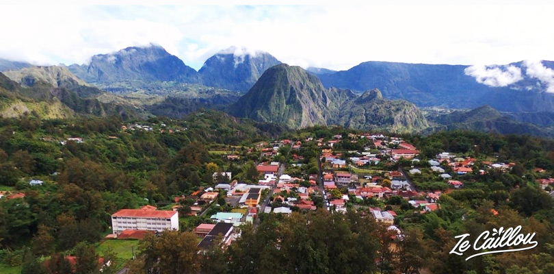 Have a great point of view on the Cirque de Salazie in the North-East of La Reunion.