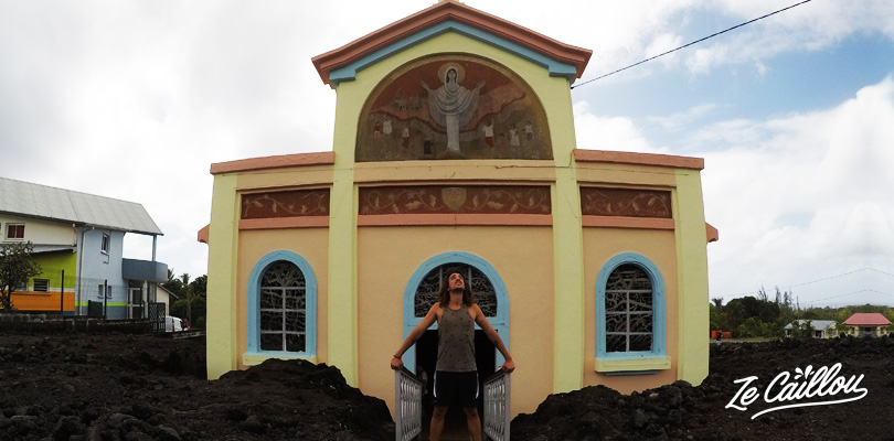 Visit the amazing Notre Dame des Laves church in the wild south of Reunion Island.
