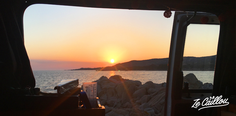 How to organise a road trip in Corsica in campervan.