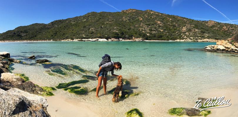 Nagez dans des aux eaux turquoises dans le nord de la Corse.
