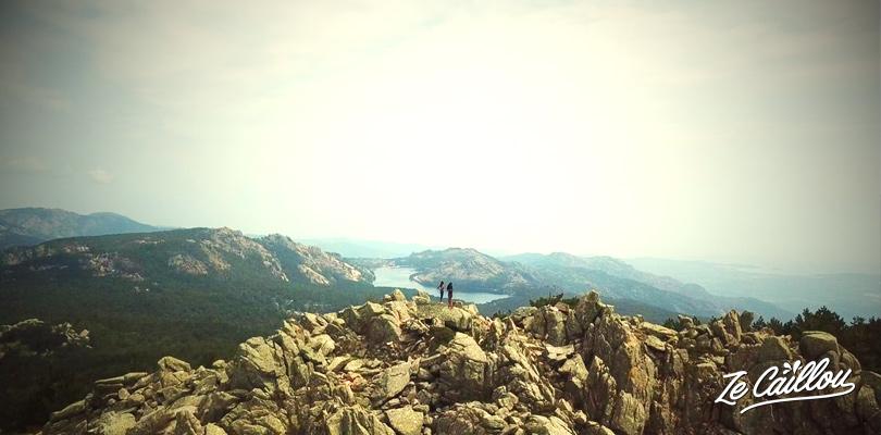 Randonnée jusqu'au sommet de la Vacca Morta près du village d'Ospedale en Corse.