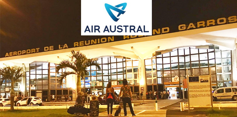 Our new partner, Air Austral, a local airline company from La Reunion.