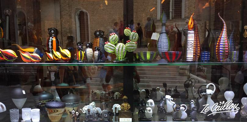 Les boutiques de verre de Murano proposent des objets plus originaux que sur Venise.