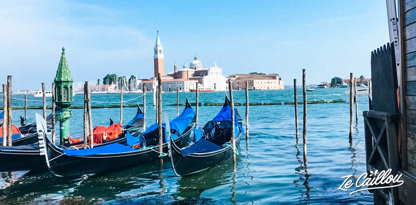 Have a great time on a venetian gondole when visiting Venice in Italy.