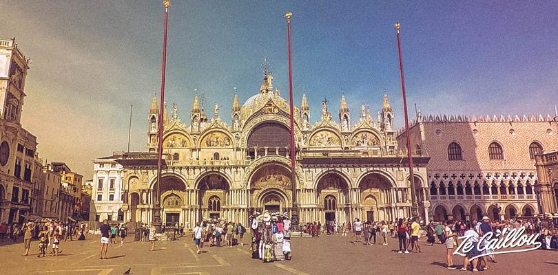 La magnifique Basilique de San Marco à Venise dont l'entrée est gratuite.