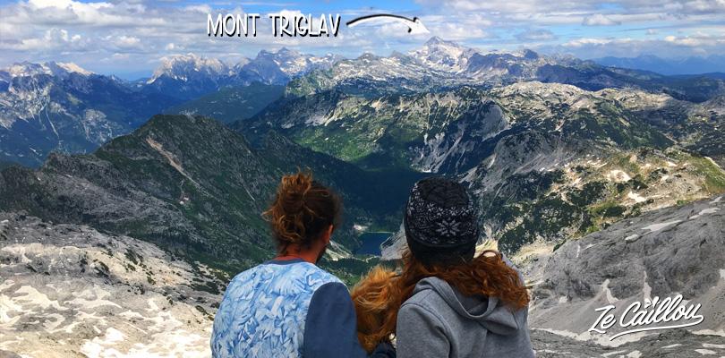 Le magnifique sommet du mont KRN avec vue sur le mont Triglav en Slovénie.