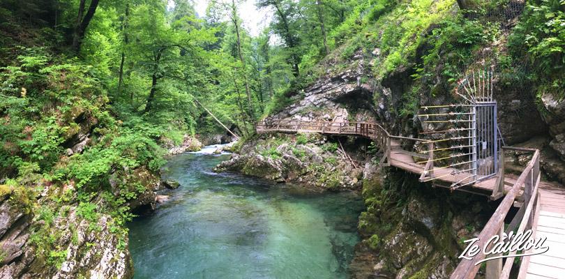 Les gorges de Vintgar dans le village de Bled étaient fermées en Juin 2018.