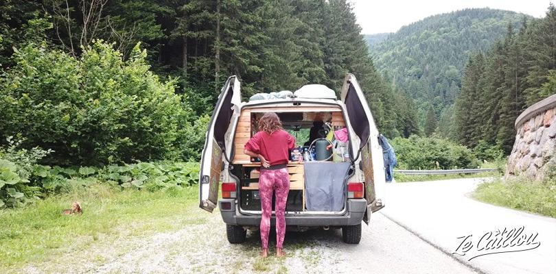 La vie en van en Slovénie, aucun problème en basse saison.