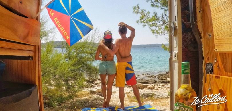 Visiter les îles croates en van aménagé, tout savoir.