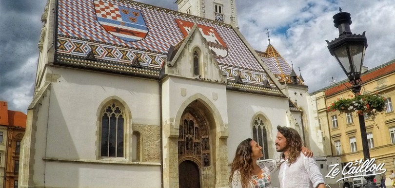 St-Mark church, a must see in Croatia during a summer roadtrip in campervan.