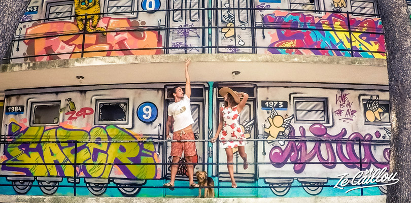 Walk around the Bol abandonned hotel to discover mural graffitti, vanlife in Croatia.