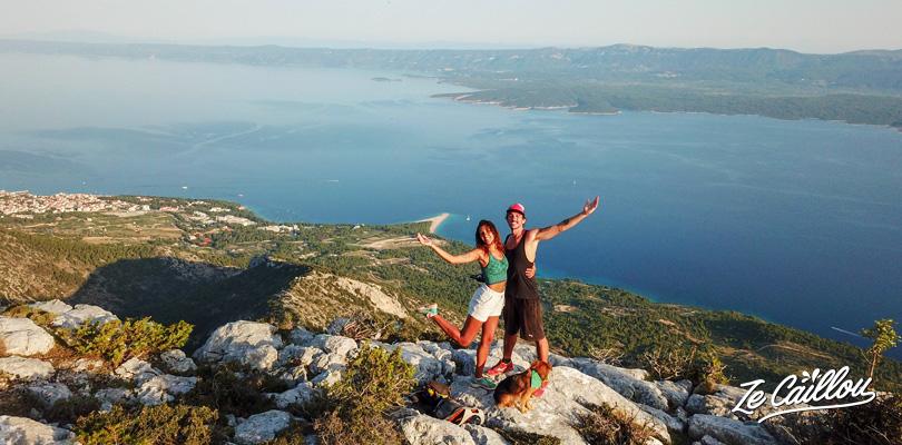 Randonnée de Vidova Gora sur l'île de Brac en Croatie.
