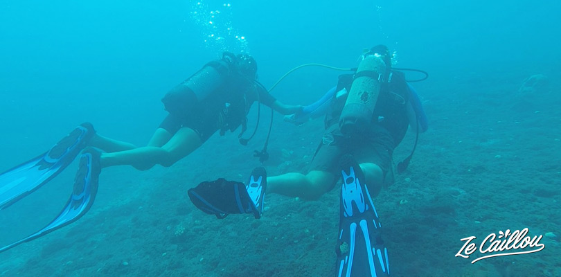 Learn to dive safely during the level 1 diving training in La Reunion.