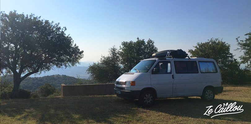 Our sleeping spot on a picnic area very close to the Meteora site in Greece.