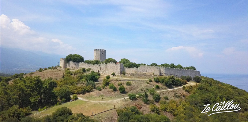 Platamonas castle in central Macedonia and its nice view on Olympe Mount.