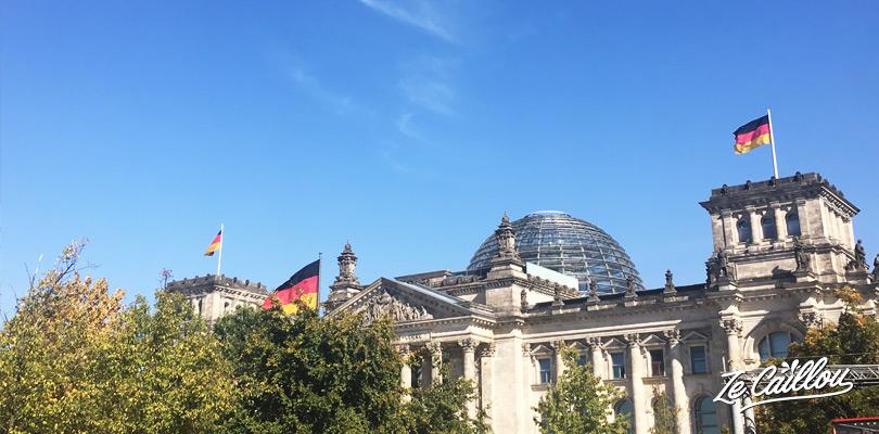 Il est possible de visiter la terrasse et le dôme du palais du Reichstag à Berlin.