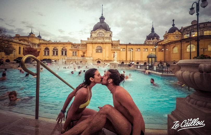 You have to test Szecheny baths in Budapest, during a road trip in Hungary with a van.